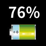 HTL23でバッテリー残量をパーセント表示にする方法(アプリ無し)