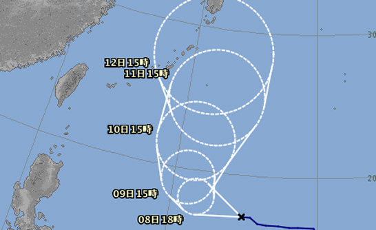 台風進路予報