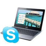ChromebookでもSkypeが使えるようになったよ!(条件付)