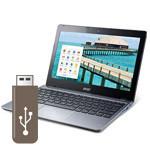 ChromebookでもUSBメモリは使えます。安全な取り外し方法もある