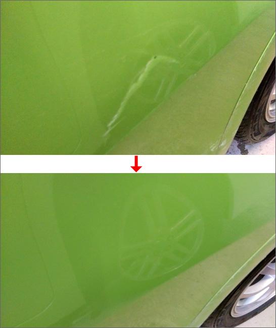 車のキズ補修結果