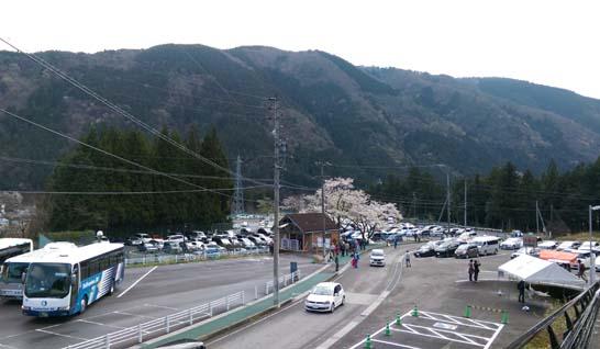 淡墨公園の駐車場