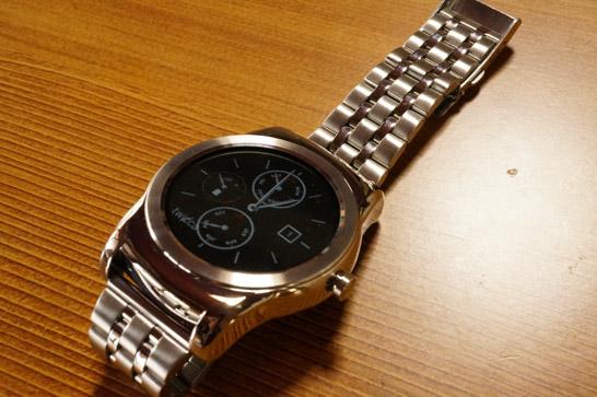 LG Watch Urbaneに金属バンド