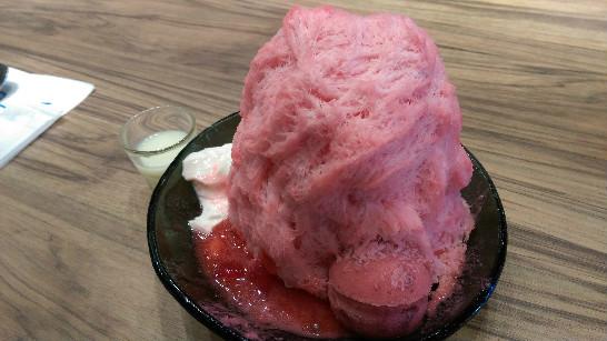 イチゴ台湾かき氷