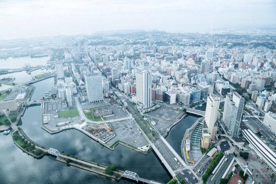 横浜の町並み