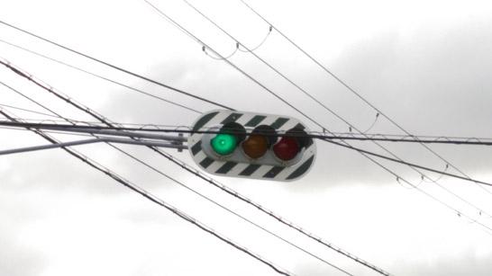 ゼブラ板信号機