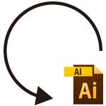 Illustrator(AI)で円弧の矢印を描く方法