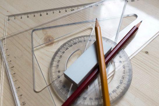 定規と分度器