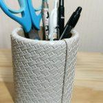 卓上ペン立てからおしゃれを取り入れ!ニトリのペン立てがシンプルで気に入っています