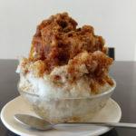 長浜市の和菓子屋さんが作る和風かき氷「ちゃらく」のわらび餅入り黒蜜かき氷