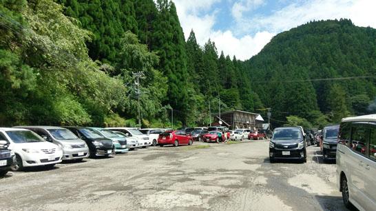大滝鍾乳洞の駐車場