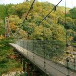 大垣の外れ上石津にある多良峡森林公園で紅葉散策、吊り橋から見える景色が綺麗