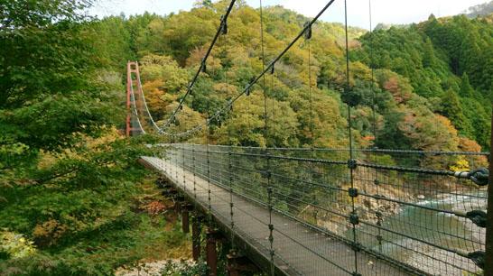 多良峡森林公園の吊り橋